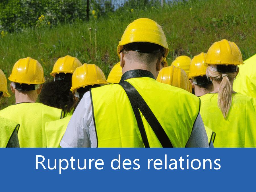 rupture des relation chantier 38, problème durant le chantier Grenoble, stress chantier Isère,